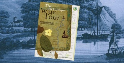 Brochure Picturesque Wye Tour guide by Dispirito Design Cheltenham Gloucestershire