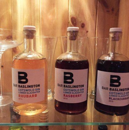Bar Sign and Bespoke Gin Bottles