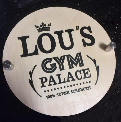 Bespoke Home Gym Sign